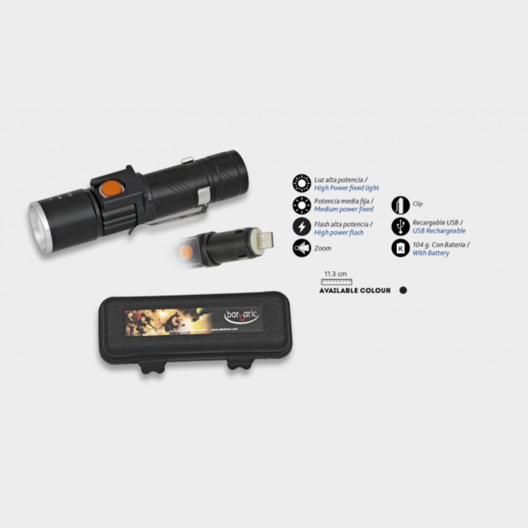 Lanterna Recarregável Mart. c/USB