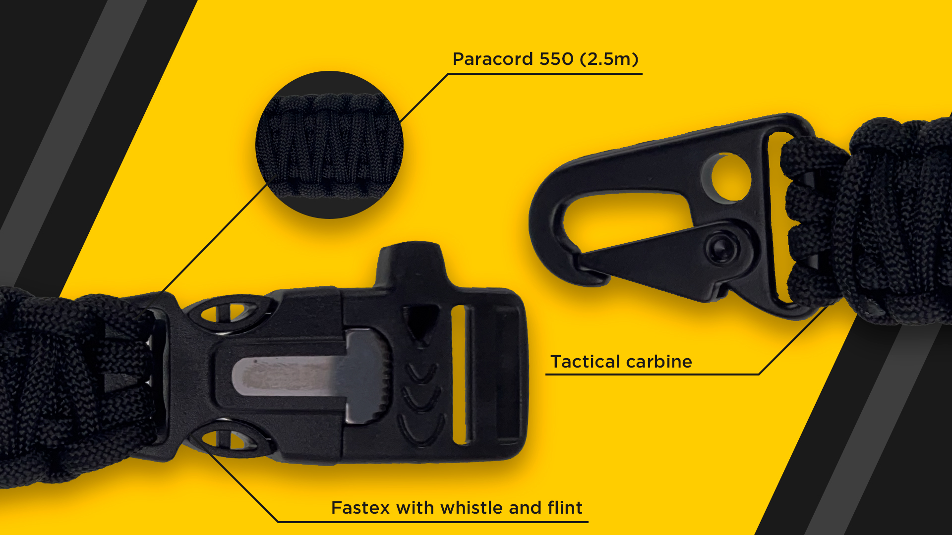 Tactical keychain 5in1