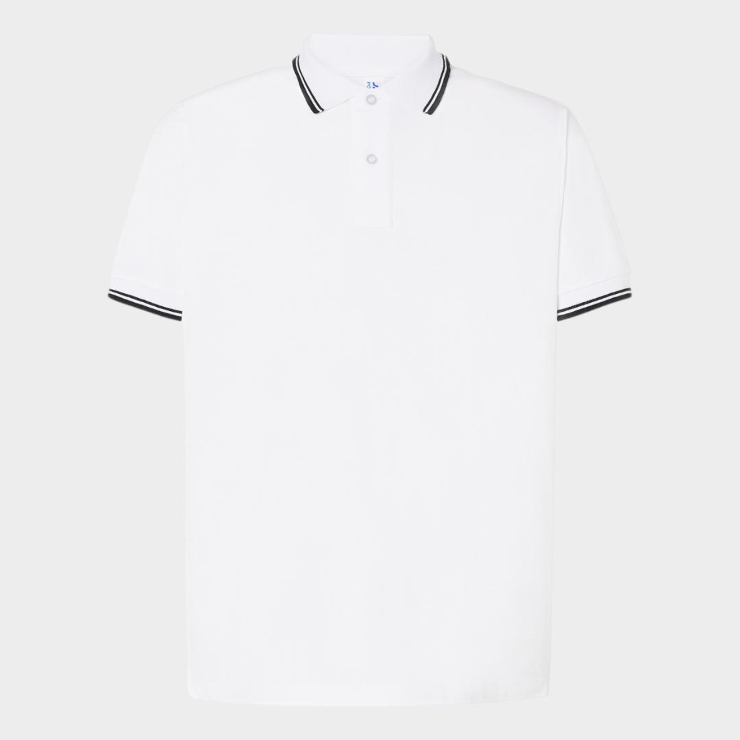 Polo JHK Branco M/curta Contraste