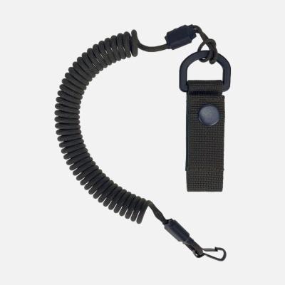 Spiral lanyard with a belt attachment