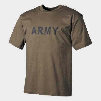 T-shirt Militar com Estampagem