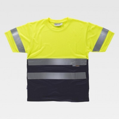 T-Shirt W/T Bicolor c/Faixas