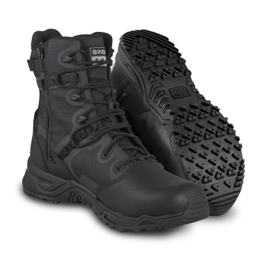 "Alpha Fury 8"" Polishable Toe Side-Zip - Black"