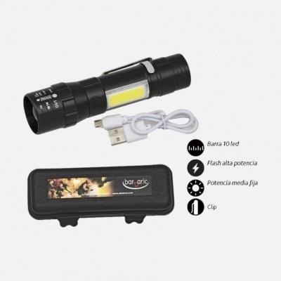 Lanterna c/Clip e Cabo USB