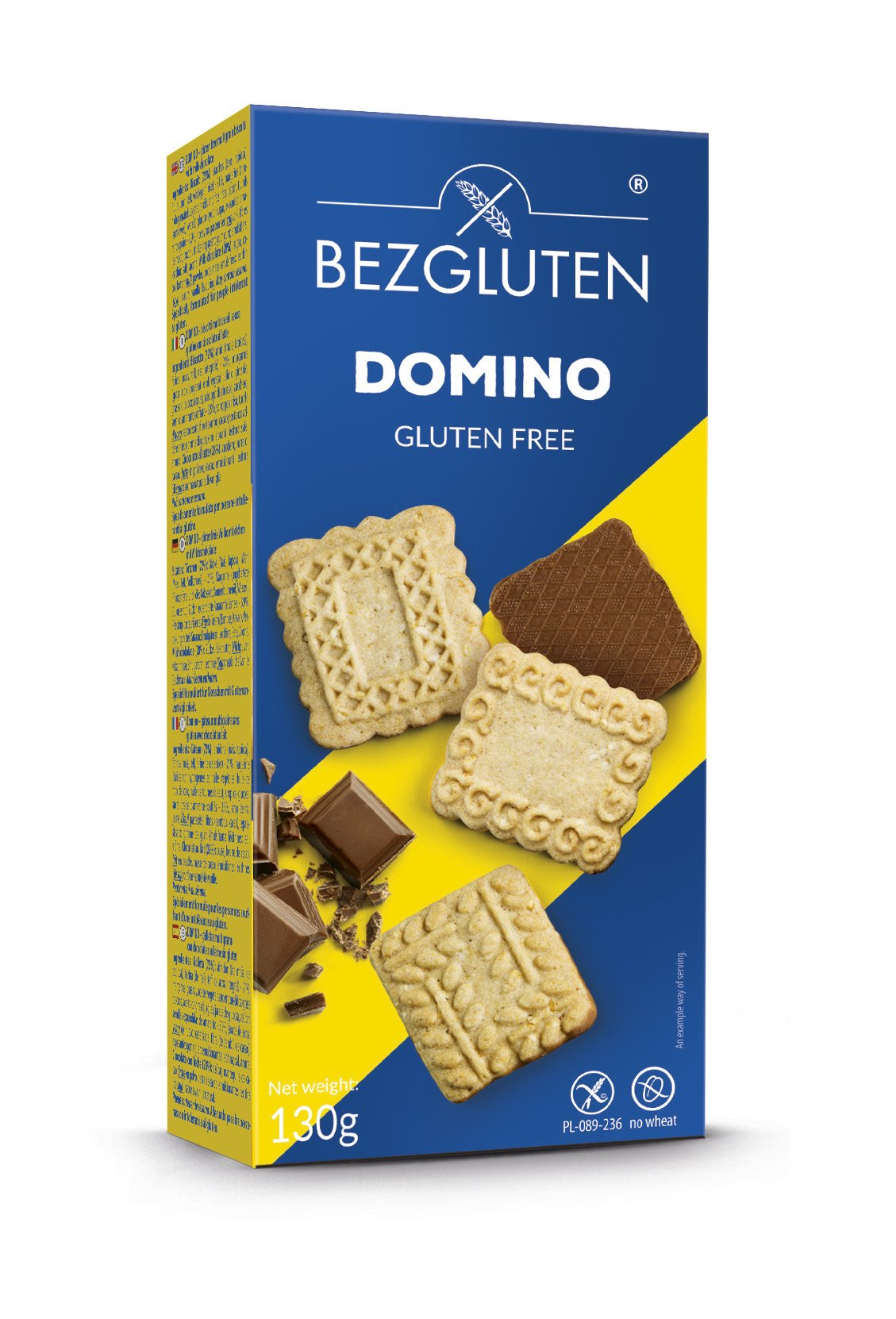 Biscoitos Dominó com Chocolate