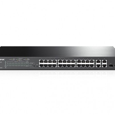 Switch c/Gestão TP-Link 24X10/100Mbps+4Gigabit Smart Switch+2Combo SFP - T1500-28PCT