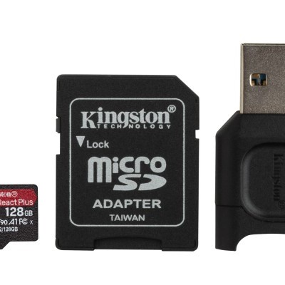MicroSD Kingston React Plus 128GB class10 UHS-II U3 V90 A1(285MB/s-165MB/s)