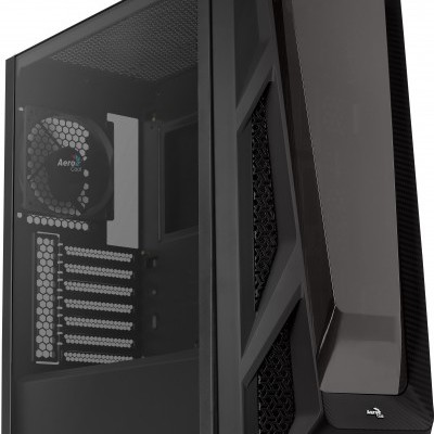 CAIXA AEROCOOL NIGHTHAWK EATX, TEMPERED GLASS  FRONT  FULL WATERCOOLING SUPPORT, 1x12CM FAN