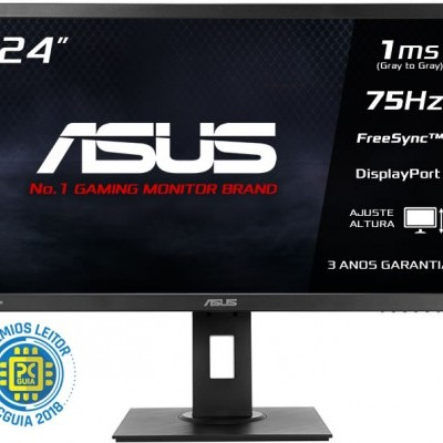 Monitor ASUS 24 Wide FHD, VP248QGL-P, 1920x1080, Gaming, 1ms, D-SUB/HDMI