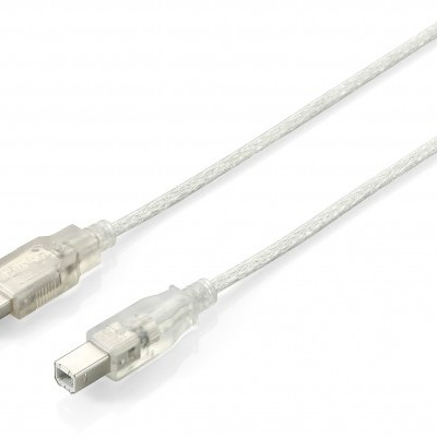 Cabo EQUIP USB 2.0 Cable A-B M/M 1,0m - 128653