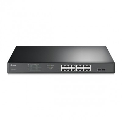 Switch de Rack 19 TP-Link c/Gestão 16portas Gigabit PoE 802.3at/af - TL-SG1218MPE