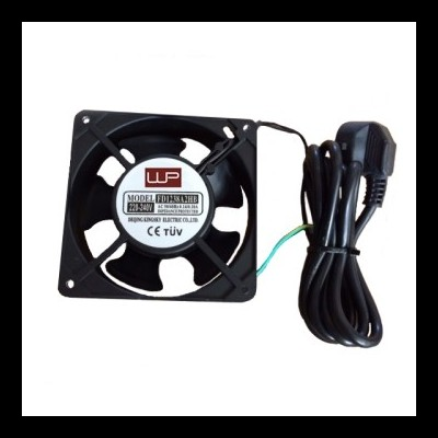 Cooling Fan 120x120x38 mm with protection grid and 2 m. power cable, 220v