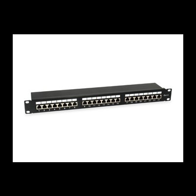 Patch Panel EQUIP Cat.6 24-Port 19 Inch 1U light-grey, shielded - 326325