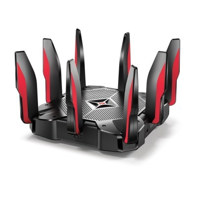 Router TP-Link Gaming AC5400 Tri-Band Wi-Fi MU-MIMO 2167Mbps, 9 Gigabit, 8 antenas - Archer C5400X