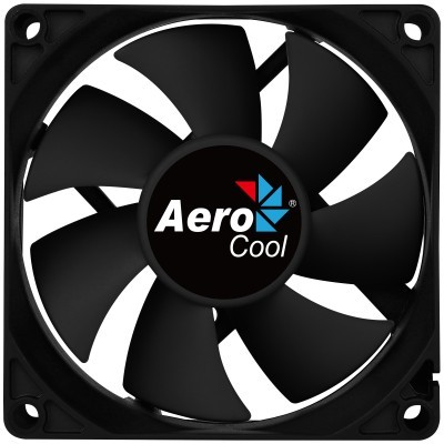 VENTOINHA AEROCOOL FORCE FAN, 120MM, BLACK, 3&4PIN, CURVED BLADES, SILENT, 1000RPM