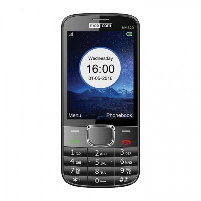"Telemovel Maxcom Classic MM320 3,2"" Single SIM 2G Preto"""