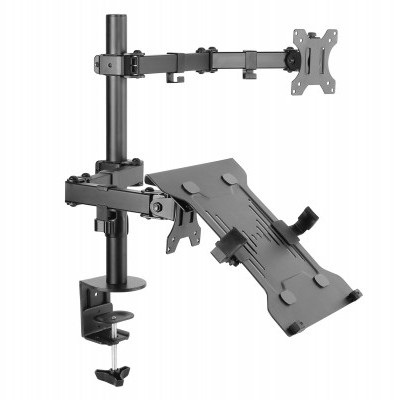 "Suporte EQUIP 13""-32\"""" Articulating Dual Arm Monitor Laptop Desk Mount - 650119"""