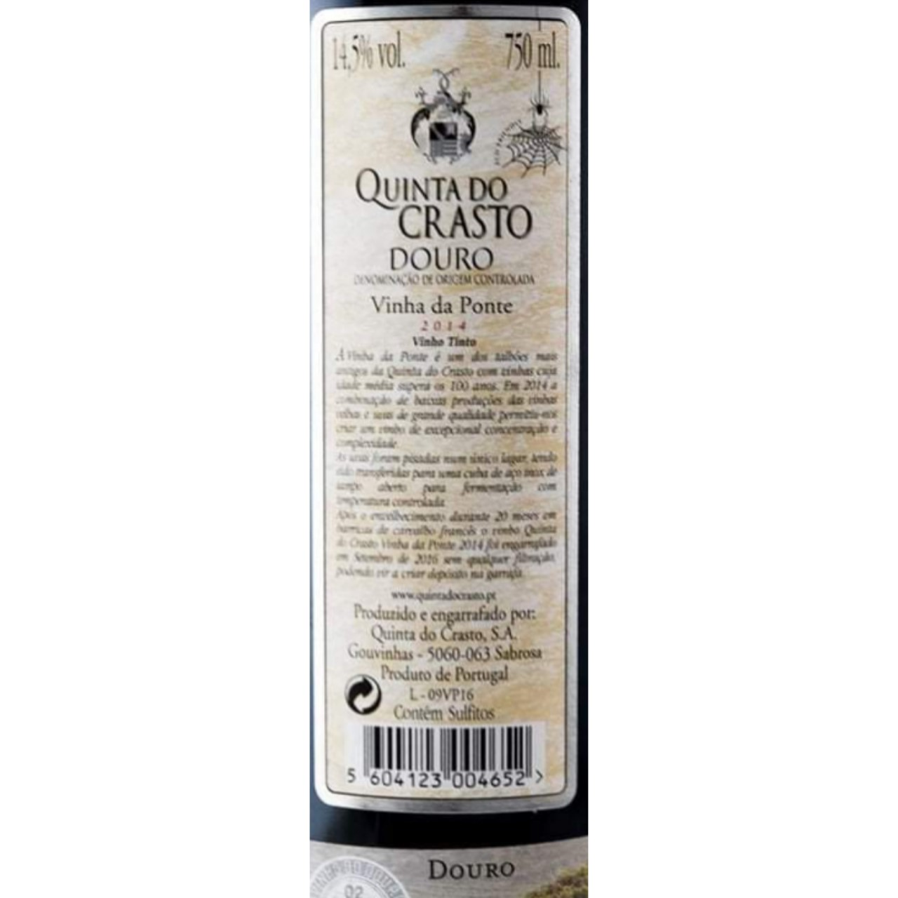 Quinta do Crasto Vinha da Ponte 2014