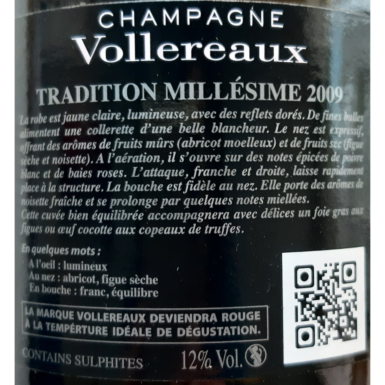 Champagne Vollereaux Brut Tradition Millesime 2009