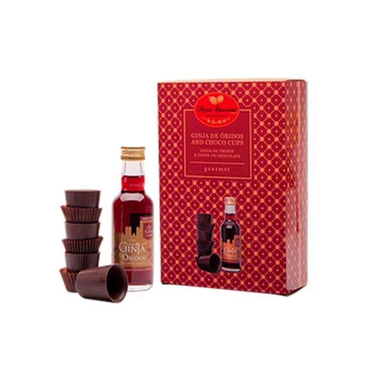 Coffret Licor Ginja de Óbidos - Maria Chocolate