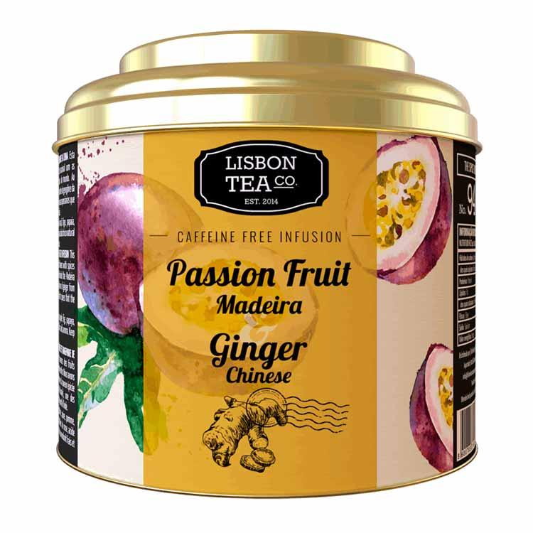 Infusão Maracujá e Gengibre da China - Lisbon Tea