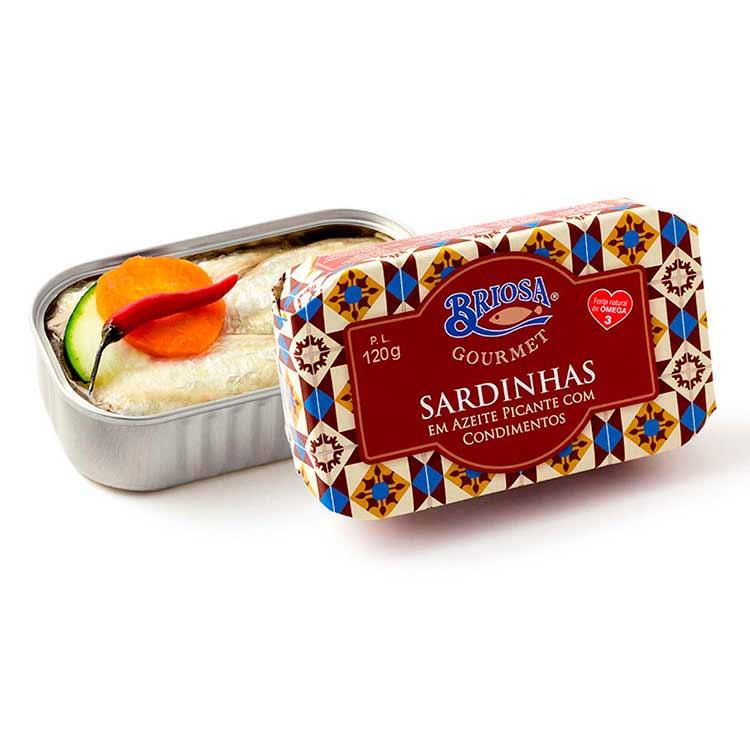 Sardinhas em Azeite picante com Condimentos - Briosa