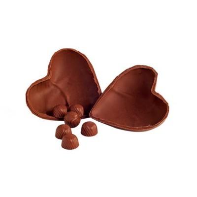 Coração de Chocolate Recheado com Bombons - Maria Chocolate