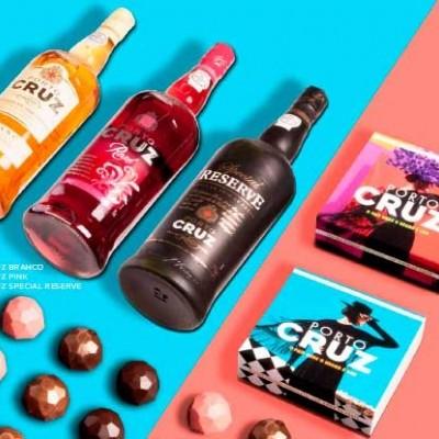 Seleção Especial Vinho do Porto Cruz e Chocolate - Maria Chocolate
