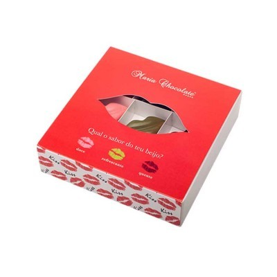 Caixa de Bombons Qual o Sabor do Seu Beijo - Maria Chocolate