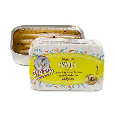Filetes de Cavala em Azeite Virgem Extra Com Tomilho Limão Bio - Dama
