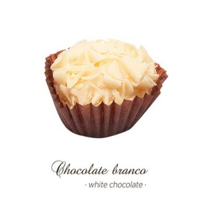 Brigadeiro Gourmet - Chocolate Branco - Maria Chocolate