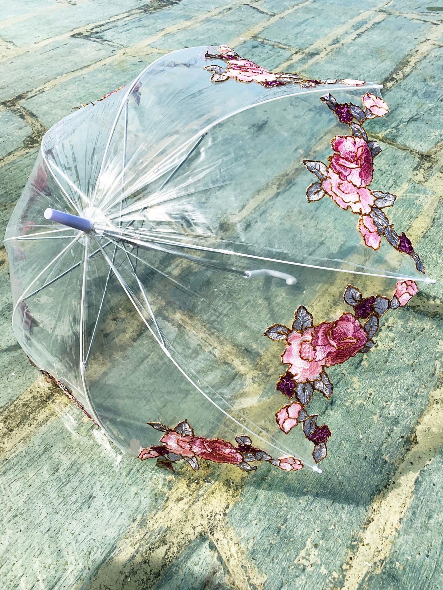 Guarda-chuva rosas