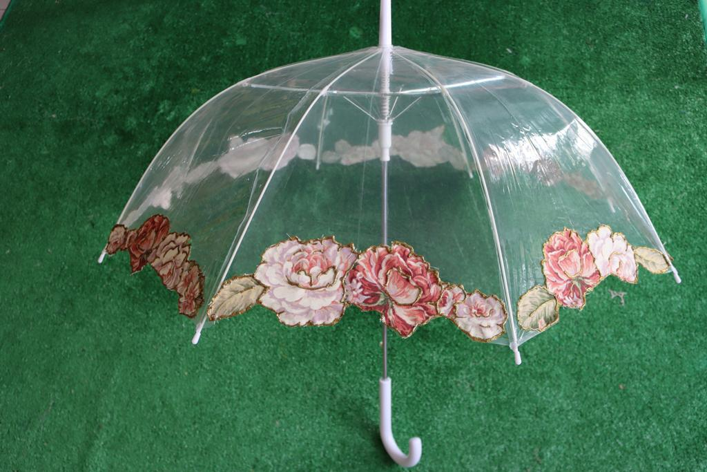 Chapéu de chuva rosas clássico