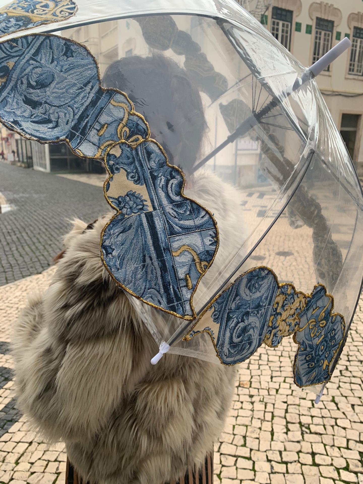 Chapéu de chuva Corações Viana Recortados