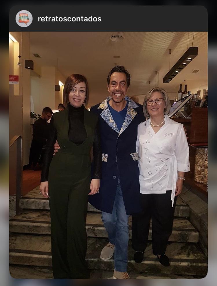 Nelson Mateus com Fétima Lopes e Blusão Graça Esteves