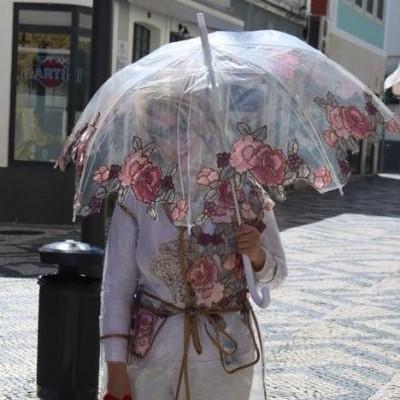 Chapéu de chuva Rosas