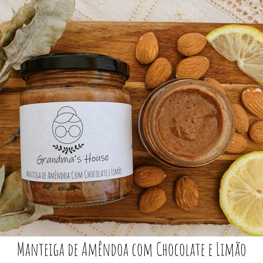 Manteiga de Amêndoa com Chocolate e Limão