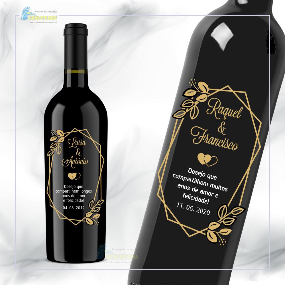 Garrafa de vinho personalizada - Casamento - GCN22