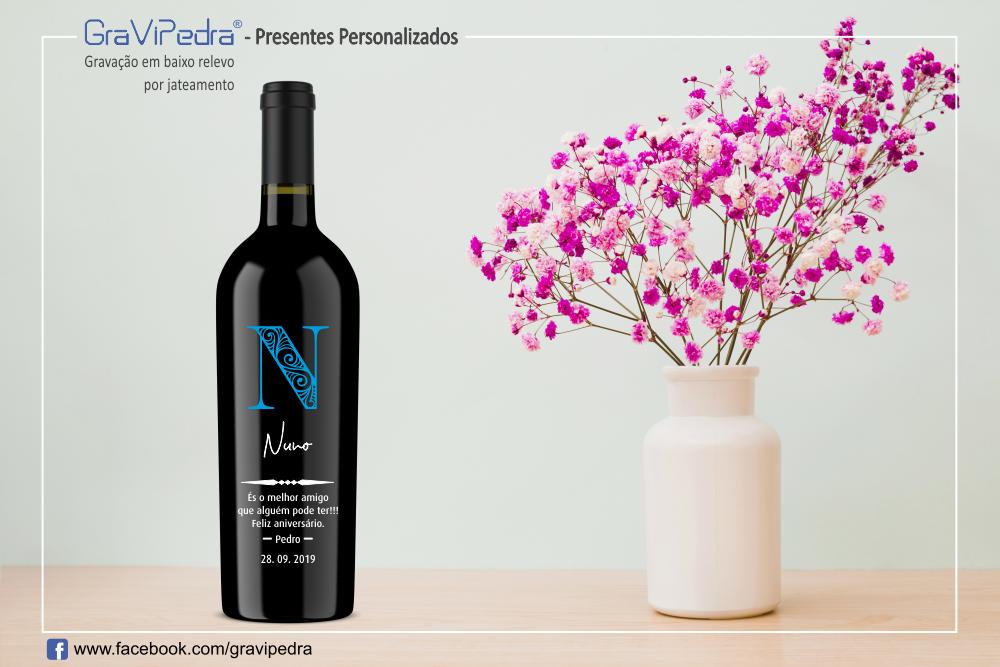Presentes personalizados - Garrafa de vinho