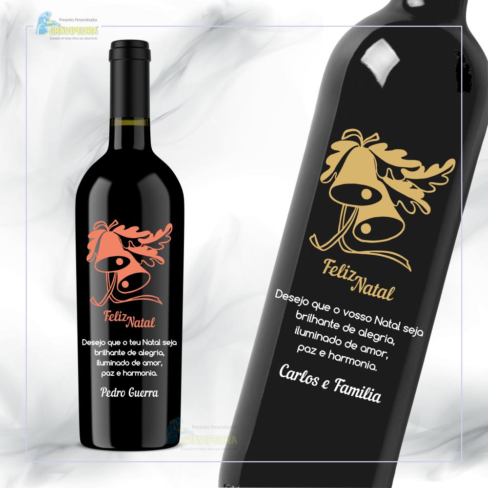 Garrafa de vinho personalizada para Natal/Ano Novo - GNA10