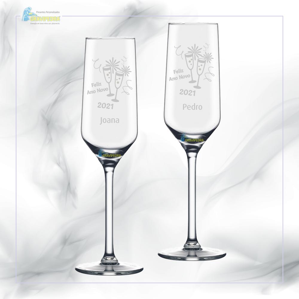 Pack 2 Copos em vidro personalizados - Natal/Ano Novo - CVAND03