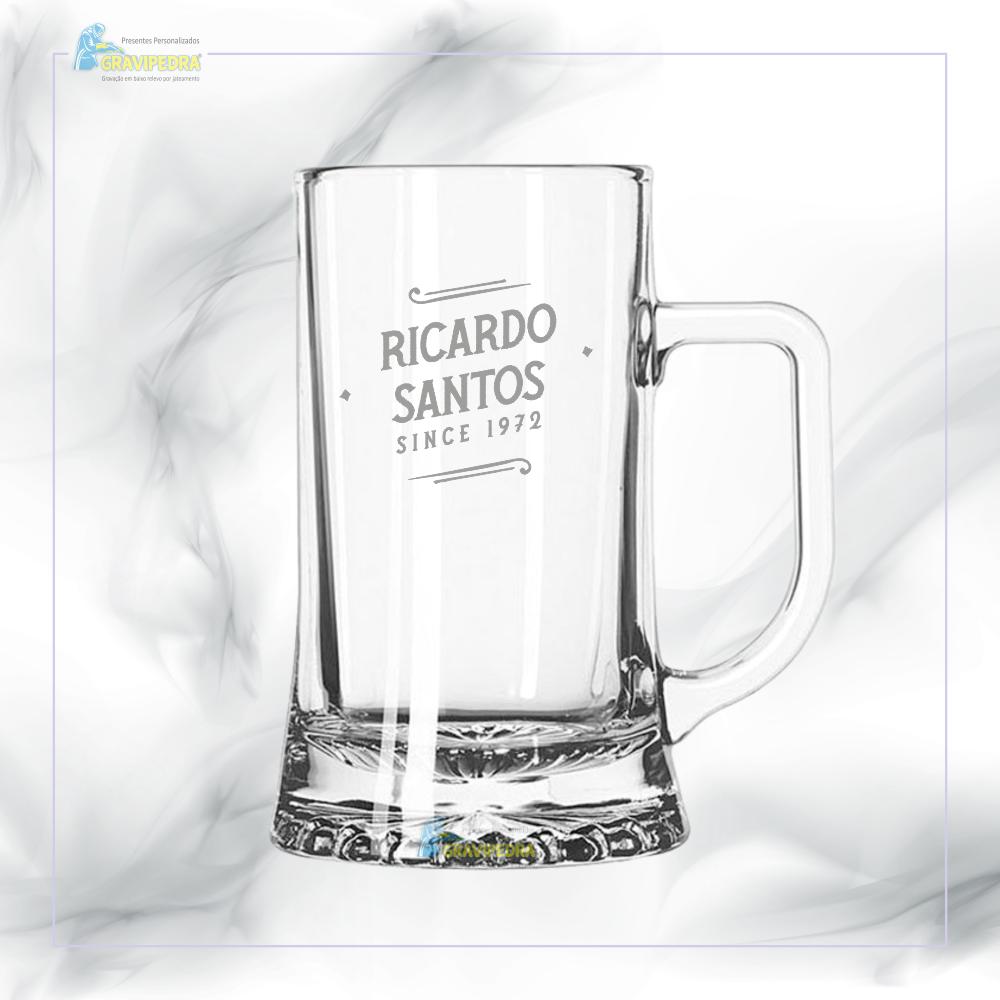 Caneca de Cerveja em vidro personalizada - CCVJ02