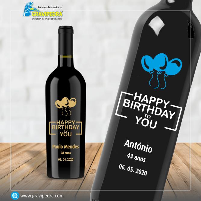Garrafa de vinho personalizada para Aniversário - GFA25
