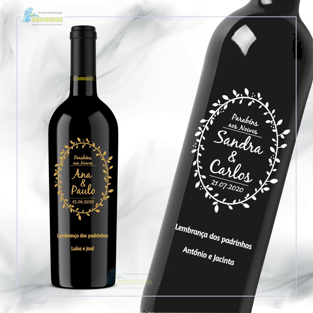 Garrafa de vinho personalizada para Casamento – GCN15
