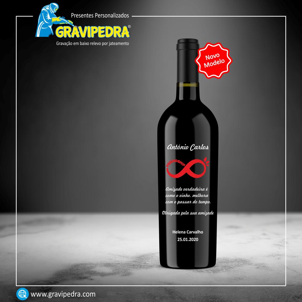 Garrafa de vinho personalizada - Agradecimento - GAG06