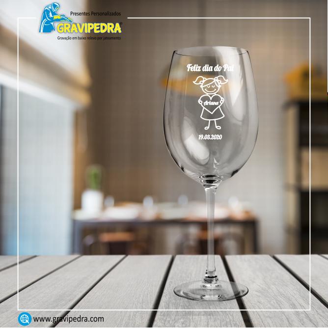 Copo em vidro personalizado - Dia do Pai - TVP01