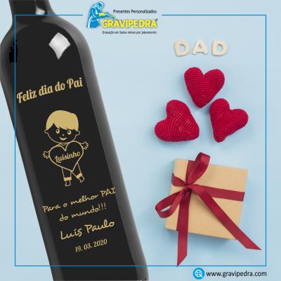 Garrafa de vinho personalizada - Dia do Pai - GDP05