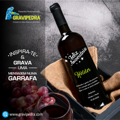Garrafa de vinho personalizada para Aniversário - GFA47