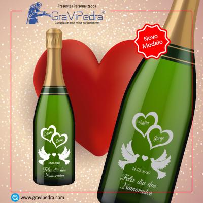Garrafa vinho personalizada para Dia dos Namorados - GV10