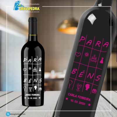 Garrafa de vinho personalizada - Aniversário - GFA10